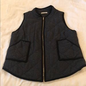 Black with gray quilted vest by 41 Hawthorne